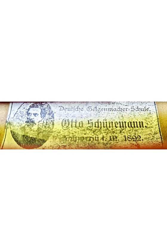 Labelled Otto Schuenemann Violin German 1892