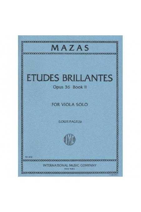 Mazas, Etudes Brillantes Op.36 Book 2 Viola Solo (IMC)
