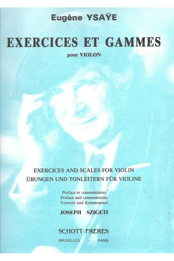 Exercises and Scales for Violin Ysaye (Schott Freres)