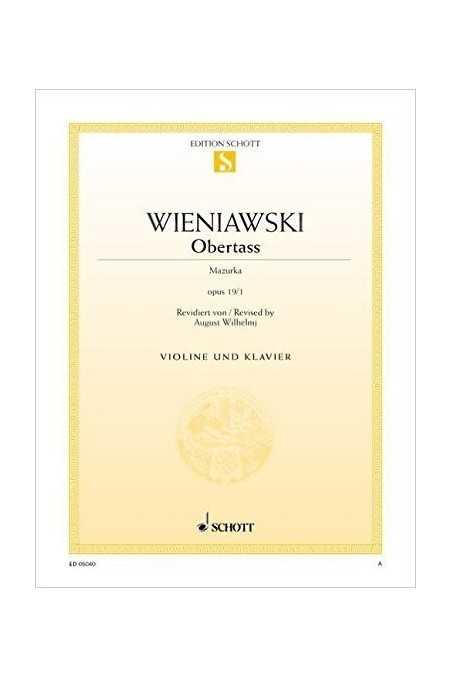 Wieniawski Obertass For Violin (Schott) 13