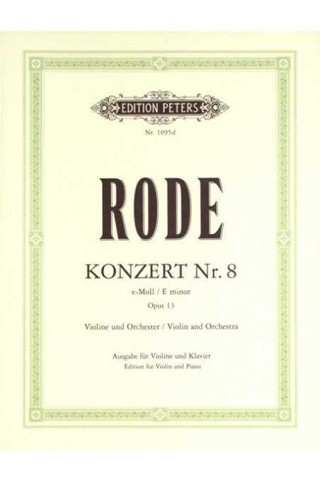 Rode Concerto No.8 for violin in E minor (Peters)