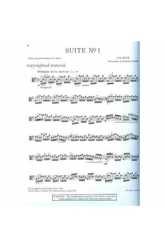 Bach Solo Cello Suites Arranged For Viola (Chester Music)