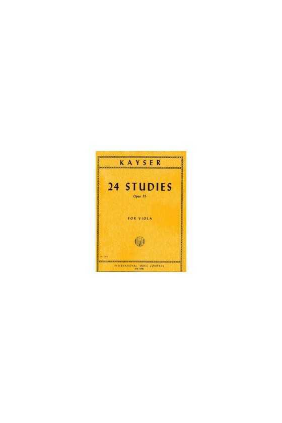 Kayser, 24 Studies For Viola Op.55 (IMC)
