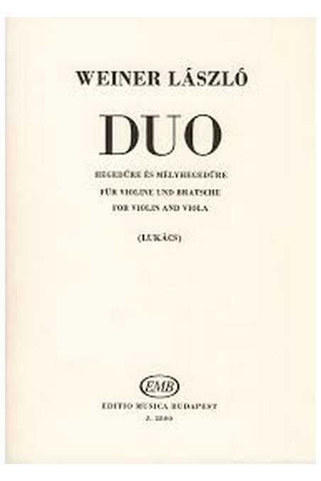Duo for Violin and Viola by Laszlo Weiner