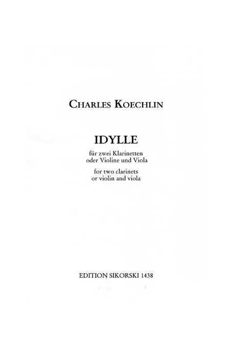 Koechlin, Idylle For Violin And Viola