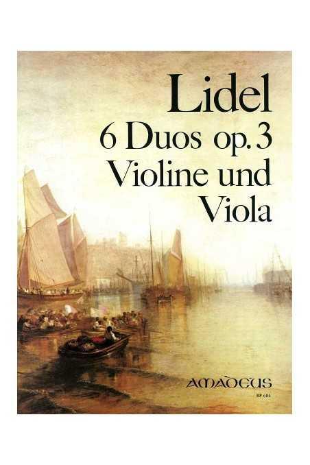 Lidel, 6 Duos Op. 3 For Violin And Viola