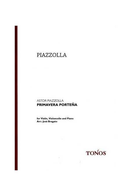 Piazzolla Primavera Portena Trio Arr. Violin, Cello And Piano (Tonos)