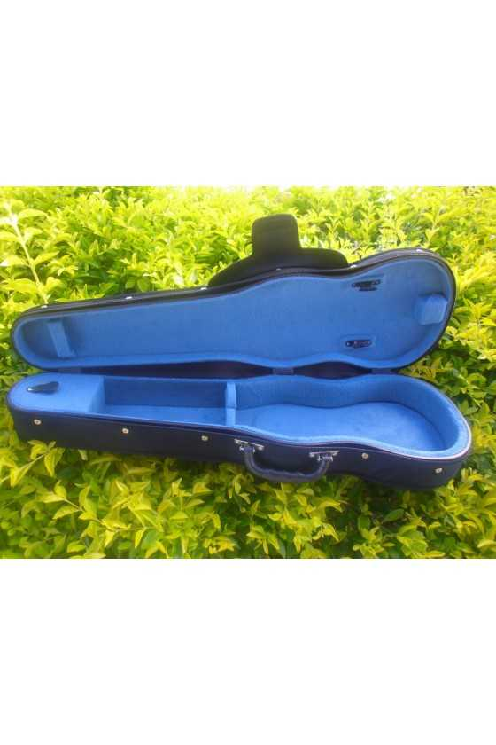Black Plywood Violin Case With Blue Interior