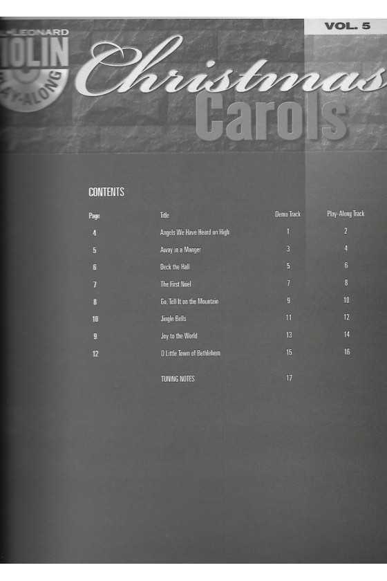 Play-along, Christmas Carols for Violin with CD