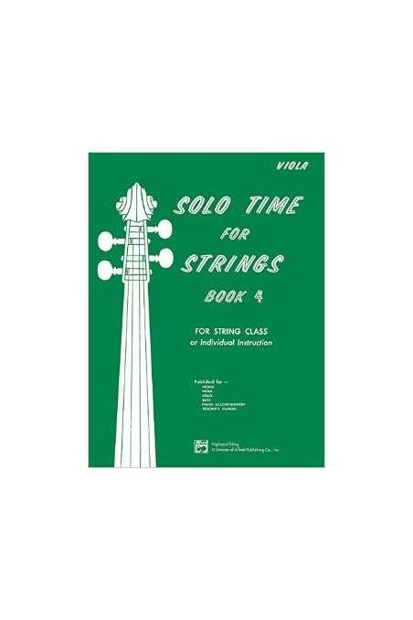 Solo Time for Strings Book 4 (Viola)