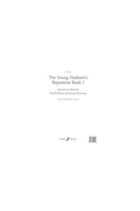 De Keyser The Young Violinists Repertoire Bk 1