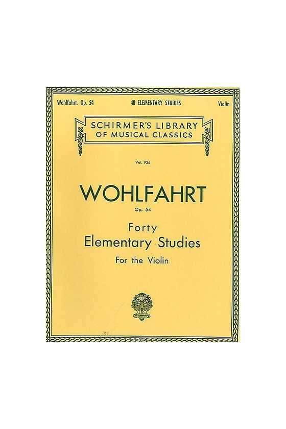 Wohlfahrt, 40 Studies Op....