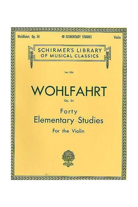 Wohlfahrt, 40 Studies Op. 54 (Peters)