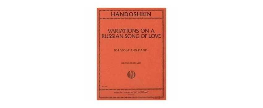 Viola Compositions of Ivan Evstafeivich Handoshkin | Animato Strings