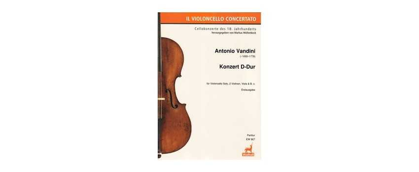 Cello Compositions of Antonio Vandini  | Animato Strings