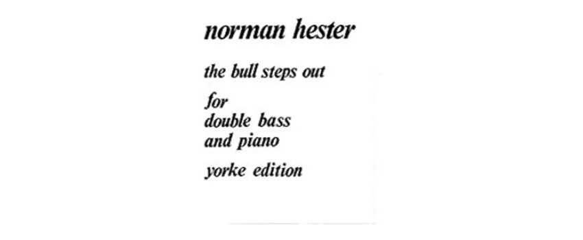 Double Bass Compositions of Norman Hester | Animato Strings