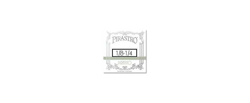 1/4- 1/8 Size Piranito Violin Strings | Animato Strings